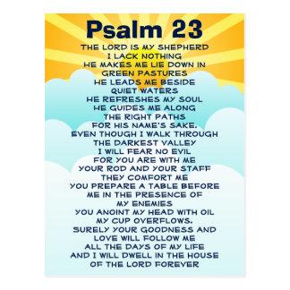 Postkarte des Psalms 23