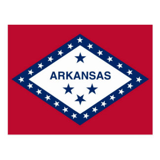 Postkarte mit Flagge von Arkansas-Staat - USA