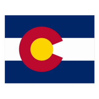 Postkarte mit Flagge von Colorado-Staat - USA