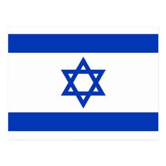 Postkarte mit Flagge von Israel
