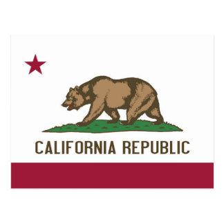 Postkarte mit Flagge von Kalifornien-Staat - USA