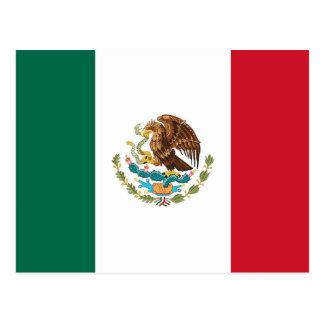 Postkarte mit Flagge von Mexiko