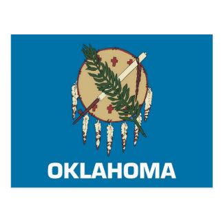 Postkarte mit Flagge von Oklahoma-Staat - USA