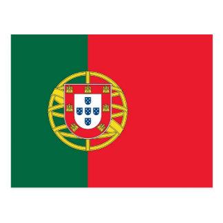 Postkarte mit Flagge von Portugal