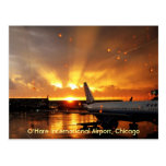 Postkarte O'Hare internationalen Flughafen-(Chicag
