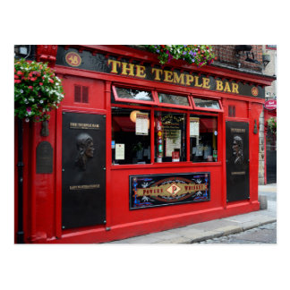 Postkarte roten Tempel-Bar Pub in Dublin