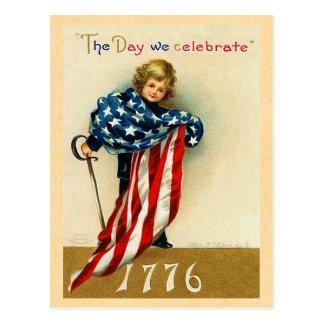 Postkarte USA am 4. Juli
