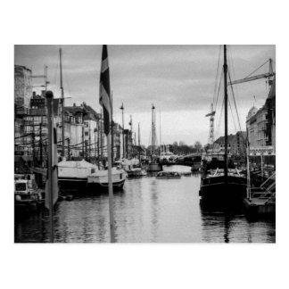 Postkarte von Nyhvn in Kopenhagen, Dänemark