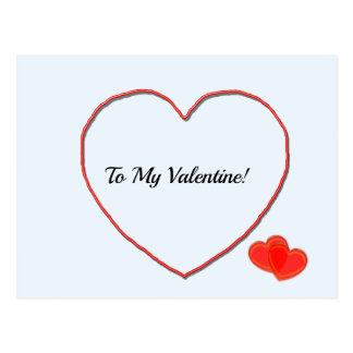 Postkarte - zu meiner Valentinsgruß-Herz-Form