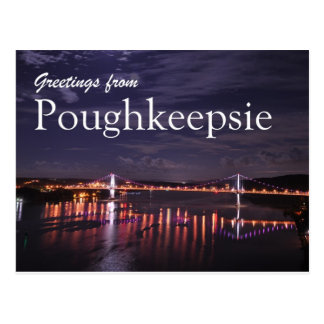 Poughkeepsie nachts postkarte