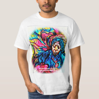 POWER Blues-Dunst-psychedelischer T - Shirt