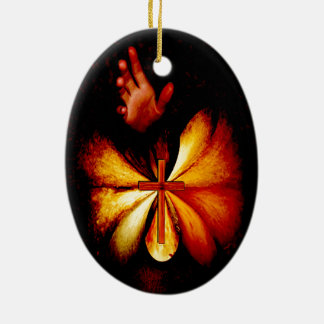 Power des Gebets-Kunst-Verzierungs-Ovals Ovales Keramik Ornament