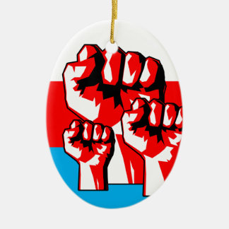 Power-Faust Ovales Keramik Ornament