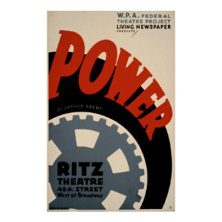 Power-Kunst-Dekodreißiger jahre WPA Vintages Poster