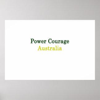 Power-Mut Australien Poster