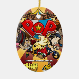 Power-Pop-Spiel-offizielle Waren Ovales Keramik Ornament