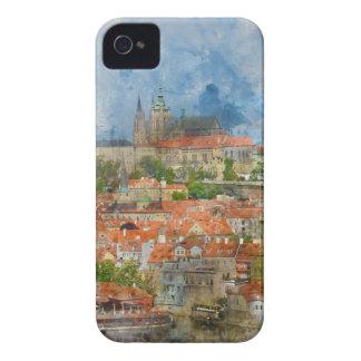 Prag-Schloss mit berühmter Charles-Brücke auf iPhone 4 Cover