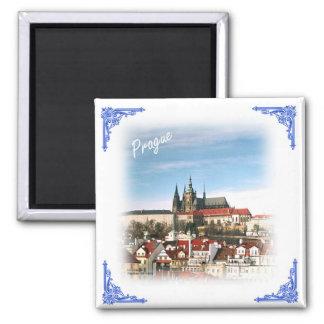 Prag-Stadt und Schloss-Tschechischer Quadratischer Magnet