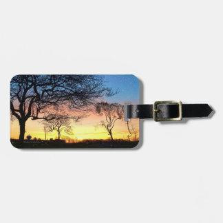 Prarie Sonnenuntergang mit verzaubertem Kofferanhänger