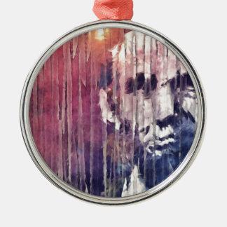Präsident Abraham Lincoln abstrakt Silbernes Ornament