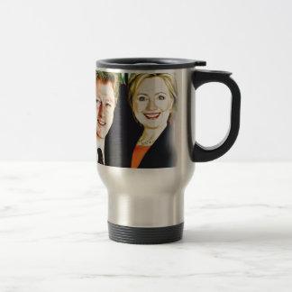 Präsident Bill Clinton u. Präsident Hillary Edelstahl Thermotasse