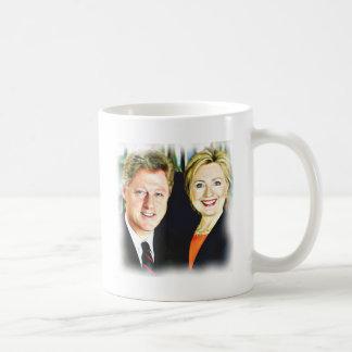 Präsident Bill Clinton u. Präsident Hillary Tasse