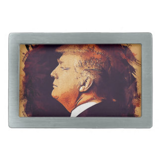 Präsident Donald Trump Rechteckige Gürtelschnalle