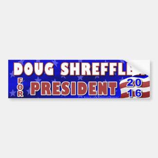 Präsident Doug-Shreffler Wahl 2016 Demokrat Autoaufkleber