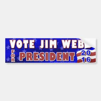 Präsident Jim-Webb Wahl 2016 Demokrat Autoaufkleber