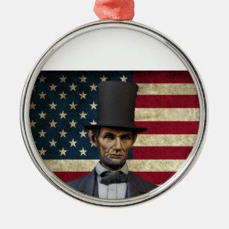Präsident Lincoln Silbernes Ornament