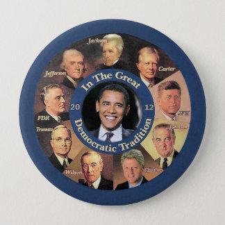 Präsident Obama 2012 Runder Button 10,2 Cm