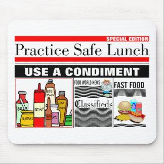 Praxis-Safe-Mittagessen Mousepad