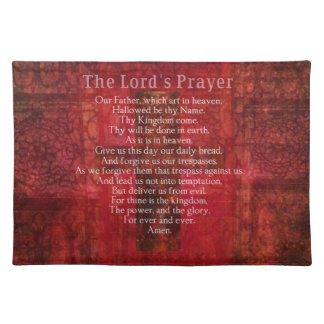 Prayer Words des Lords traditionell Stofftischset