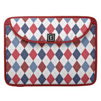 Preppy Raute patriotisches rotes weißes Blau USA Sleeves Für MacBook Pro