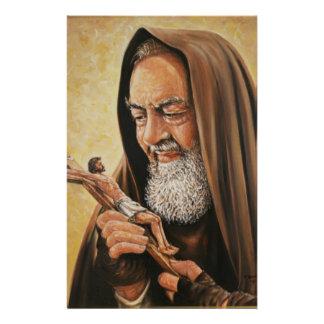 Priester-Kruzifix St. Padre Pio Briefpapier