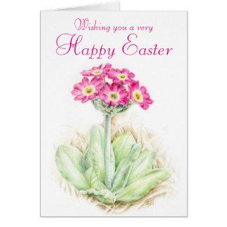 Primel-rosa Ostern-mit Blumenkarte Karte