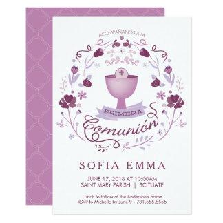 Primera Comunión Invitación - Spanisch, Mädchens 8,9 X 12,7 Cm Einladungskarte