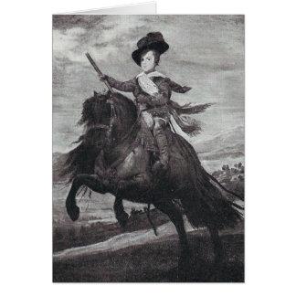 Prinz Balthasar zu Pferd durch Velazque Karte