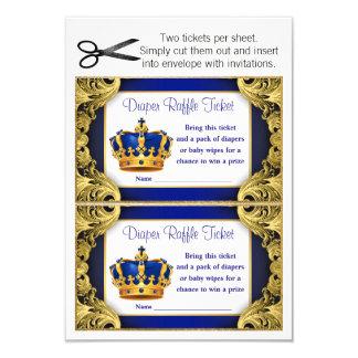 Prinz Diaper Raffle Tickets Karte