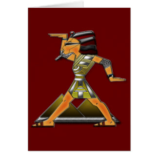 Prinz Doing Funky Egyptian Dance Karte