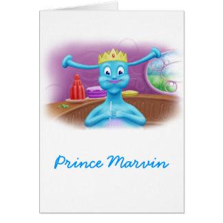 Prinz Marvin an Britas Geschäft Karte