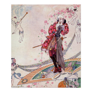 Prinz Souci auf dem Fan durch Kay Nielsen Poster