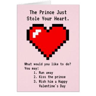 Prinz Stole Your Heart - Nerdy Witz-Videospiel Karte