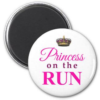 Prinzessin auf dem Lauf Runder Magnet 5,1 Cm