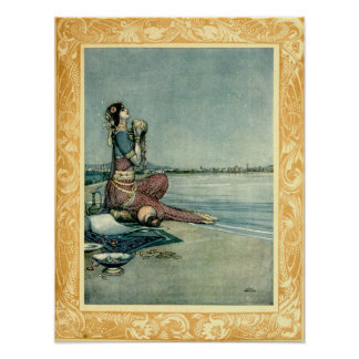 Prinzessin By The Sea durch Heide Robinson Poster