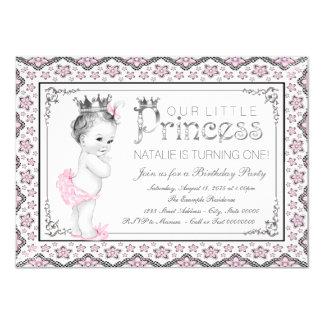 Prinzessin First Birthday Party 11,4 X 15,9 Cm Einladungskarte
