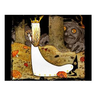 Prinzessin im Weiß mit Blumen Postkarte