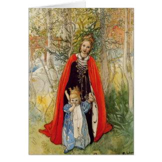 Prinzessin Spring Mother und Tochter Karte