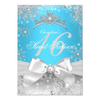Prinzessin Winter Wonderland Blue Sweet 16 11,4 X 15,9 Cm Einladungskarte