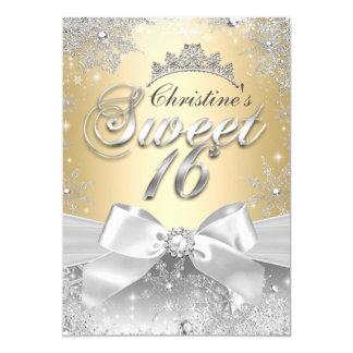 Prinzessin Winter Wonderland Gold Sweet 16 laden 12,7 X 17,8 Cm Einladungskarte